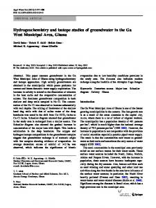 Hydrogeochemistry and isotope studies of ... - Springer Link