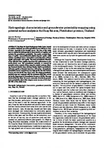 Hydrogeologic characteristics and groundwater ... - Springer Link
