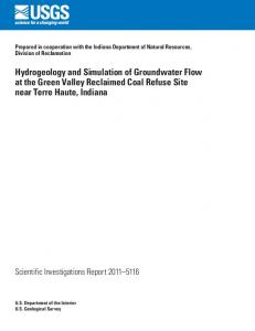 Hydrogeology and Simulation of Groundwater Flow at the Green ...