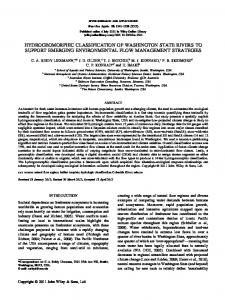 hydrogeomorphic classification of washington state rivers to support ...
