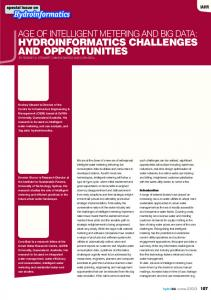 hydroinformatics challenges and opportunities