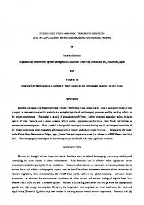 HYDROLOGIC CYCLE AND HEAT TRANSPORT MODELING AND
