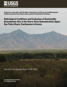 Hydrological Conditions and Evaluation of Sustainable Groundwater ...