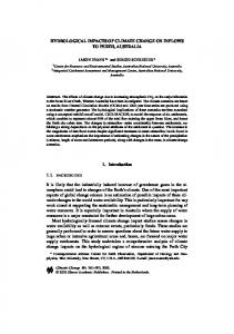 HYDROLOGICAL IMPACTS OF CLIMATE CHANGE ON ... - CiteSeerX