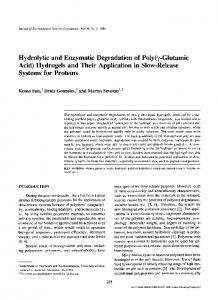 Hydrolytic and enzymatic degradation of poly(γ-glutamic acid)