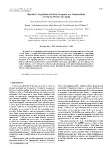 Hydrolytic Degradation of a Resin Composite as a ... - Semantic Scholar