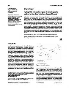 Hydrophilic interaction liquid chromatography ... - Wiley Online Library