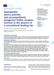 Hydrophobic anions potently and ... - Wiley Online Library