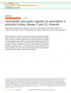 Hydrophobic pore gates regulate ion permeation in polycystic kidney ...
