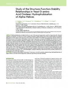 Hydrophobization of Alpha-Helices