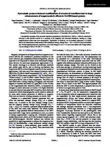 Hydrostatic pressure-induced modifications of structural transitions
