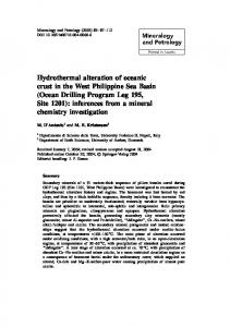 Hydrothermal alteration of oceanic crust in the West ... - Springer Link