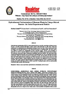 Hydrothermal Carbonization of Biomass Waste by