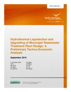 Hydrothermal Liquefaction and Upgrading of Municipal ... - PNNL