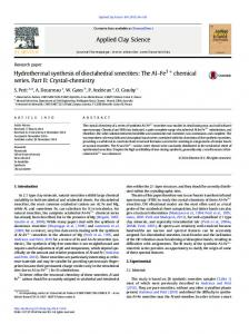 Hydrothermal synthesis of dioctahedral smectites