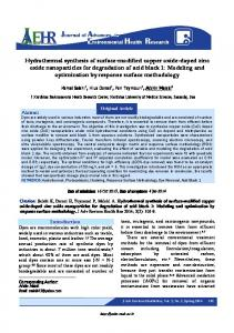 Hydrothermal synthesis of surface-modified copper oxide-doped zinc