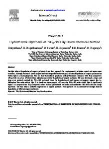 Hydrothermal Synthesis of TiO2-rGO By Green Chemical Method