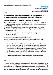 Hydrothermal Synthesis of Ultrasmall Pt