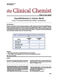 Hyperbilirubinemia in Anicteric Blood? - Clinical Chemistry