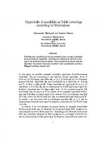 Hyperbolic 3-manifolds as 2-fold coverings