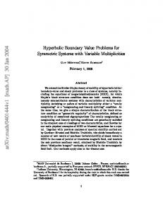 Hyperbolic Boundary Value Problems for Symmetric Systems with ...