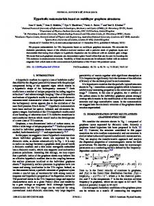 Hyperbolic metamaterials based on multilayer ... - Semantic Scholar