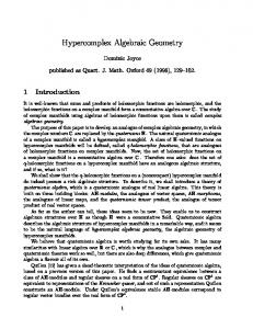 Hypercomplex Algebraic Geometry - Semantic Scholar