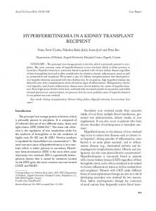 HypeRfeRRitinemiA in A Kidney tRAnsplAnt ReCipient