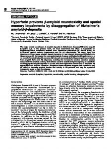 Hyperforin prevents b-amyloid neurotoxicity and spatial ... - Nature