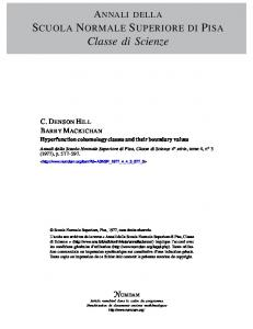 Hyperfunction cohomology classes and their ...