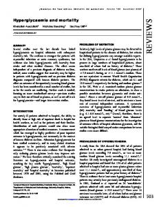 Hyperglycaemia and mortality - SAGE Journals - Sage Publications