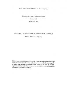 Hyperinflation and Stabilisation: Cagan Revisited - Federal Reserve ...