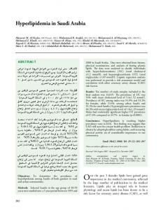 Hyperlipidemia in Saudi Arabia - Saudi Medical Journal