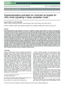 Hyperpolarization-activated ion channels as ... - Semantic Scholar