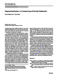 Hyperprolactinemia: An Unusual Cause of Erectile ... - Springer Link