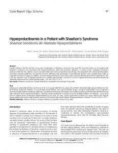 Hyperprolactinemia in a Patient with Sheehan's