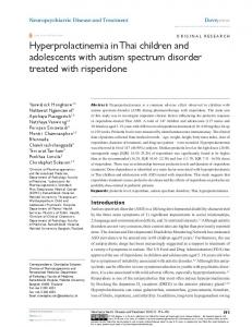 hyperprolactinemia in Thai children and