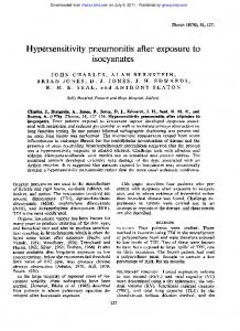 Hypersensitivity pneumonitis after exposure to ...