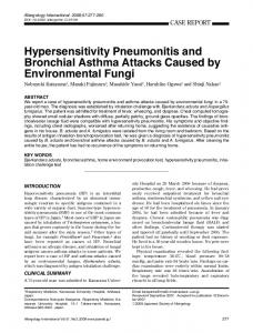 Hypersensitivity Pneumonitis and Bronchial Asthma Attacks ... - Core