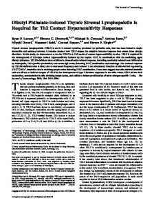 Hypersensitivity Responses Lymphopoietin Is Required for Th2 ...