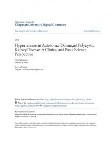 Hypertension in Autosomal Dominant Polycystic Kidney Disease: A ...