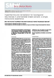 Hyperthermia and reirradiation for locoregional recurrences in ...