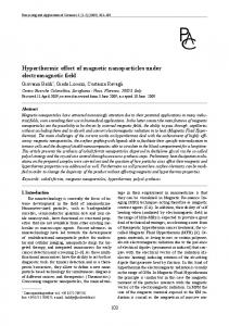 Hyperthermic effect of magnetic nanoparticles under electromagnetic ...