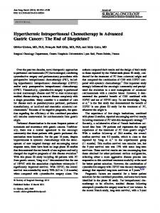 Hyperthermic Intraperitoneal Chemotherapy in ... - Springer Link