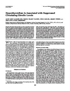 Hyperthyroidism Is Associated with Suppressed Circulating Ghrelin ...