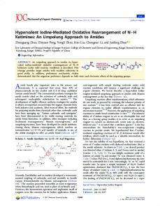 Hypervalent Iodine-Mediated Oxidative Rearrangement of NH Ketimines