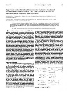 Hypervalent Iodine(III)-induced Intramolecular Cyclization Reaction of