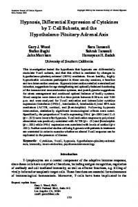 Hypnosis, Differential Expression of Cytokines by T