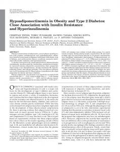 Hypoadiponectinemia in Obesity and Type 2 Diabetes ... - CiteSeerX