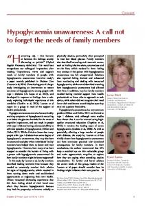Hypoglycaemia unawareness: A call not to forget the ...